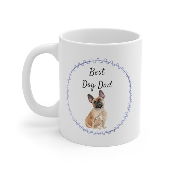 Best Dog Dad Mug — Frenchie (left side view)