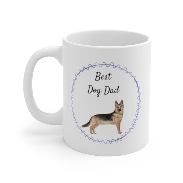 Best Dog Dad Mug — German Shepherd (left side view)