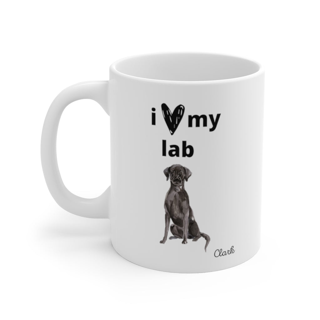 i love my lab Mug — Black Lab (left side view)