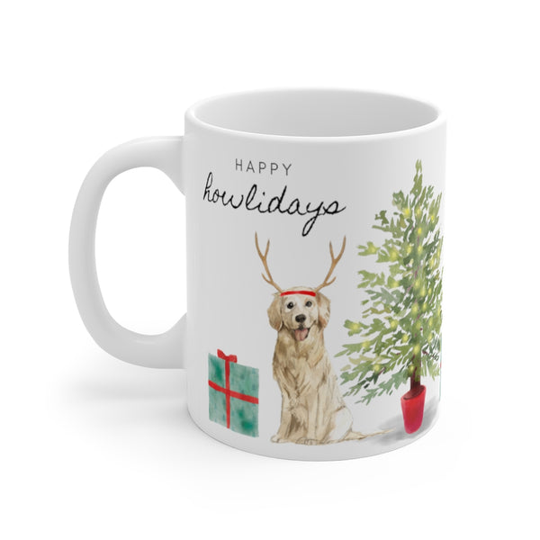 Happy Howlidays Mug — Golden (left side view)