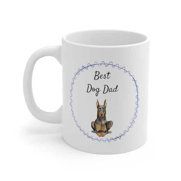 Best Dog Dad Mug — Doberman (left side view)