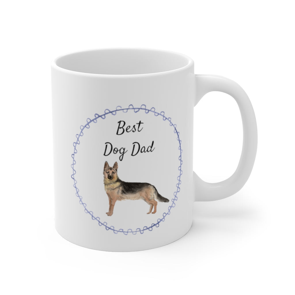 Best Dog Dad Mug — German Shepherd (right side view)