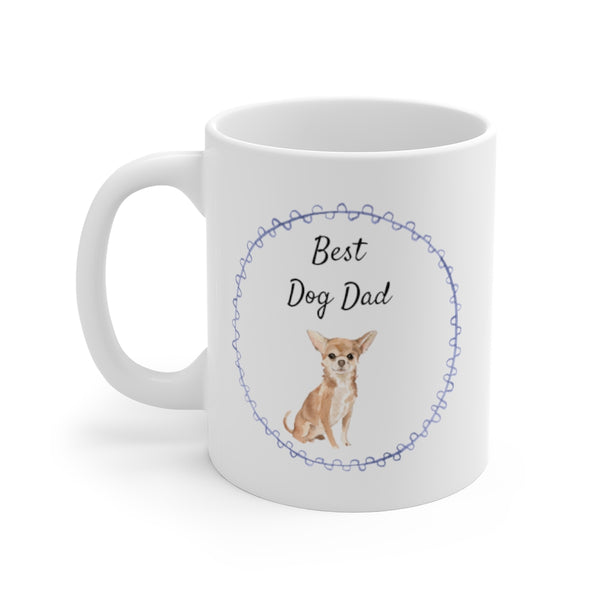 Best Dog Dad Mug — Chihuahua (left side view)