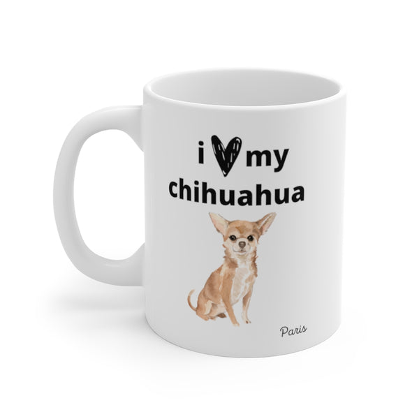 i love my chihuahua Mug (left side view)