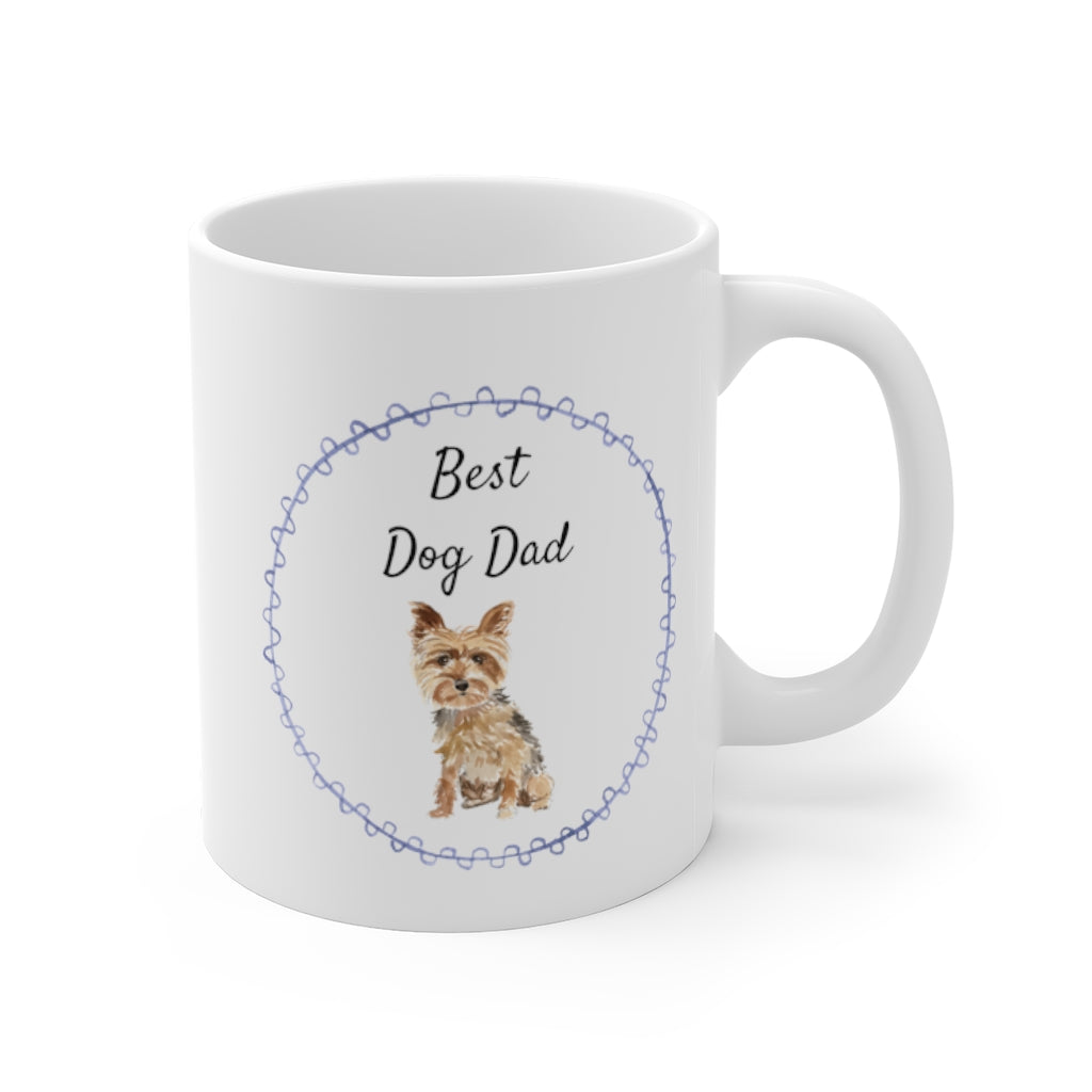 Best Dog Dad Mug — Yorkie (right side view)