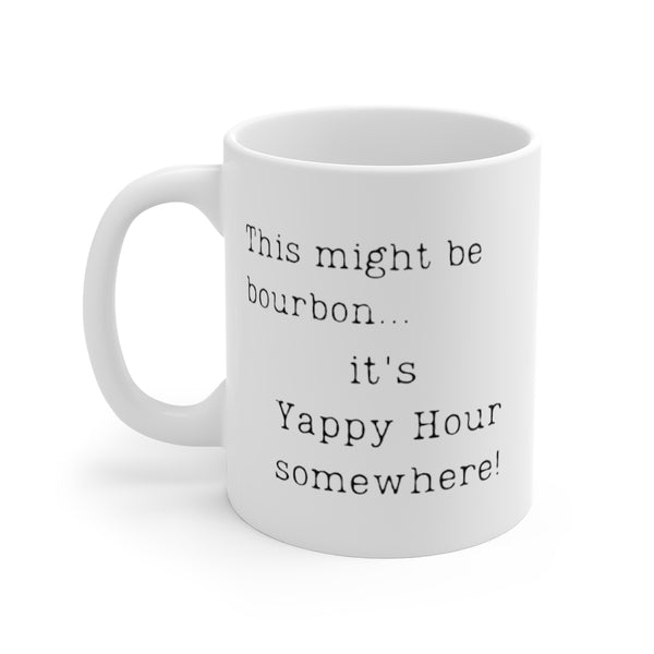 This might be bourbon... it's Yappy Hour somewhere! Mug (left side view)