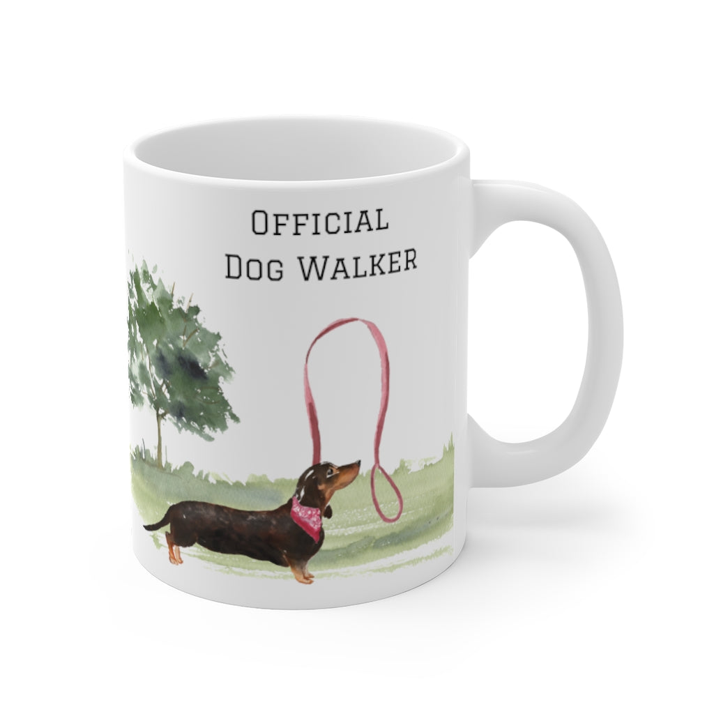 Official Dog Walker Mug — Doxie (right side view)