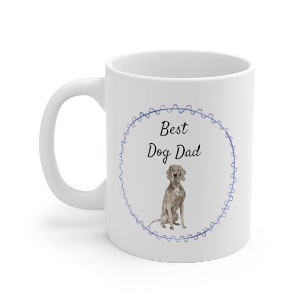Best Dog Dad Mug — Weimaraner (left side view)