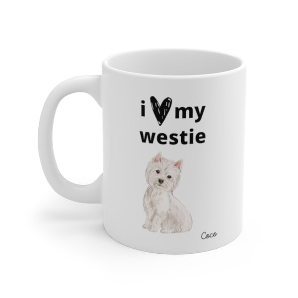 i love my westie Mug (left side view)