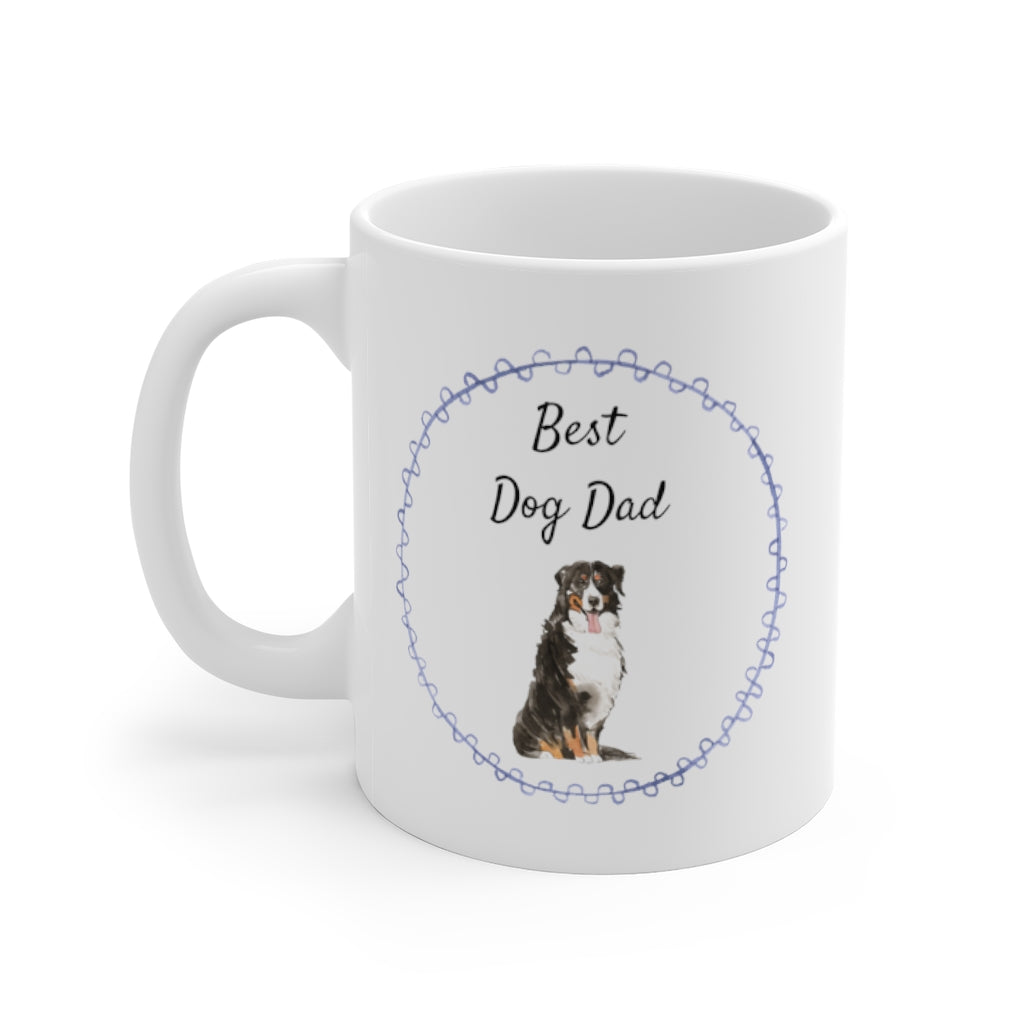 Best Dog Dad Mug — Aussie (left side view)