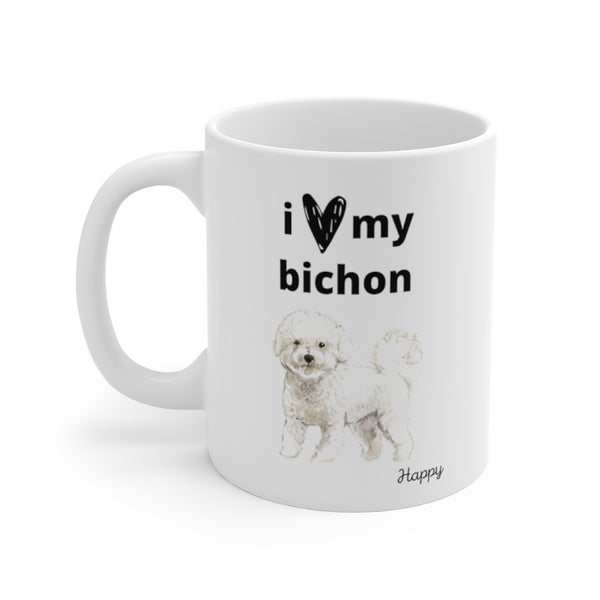 i love my bichon Mug (left side view)