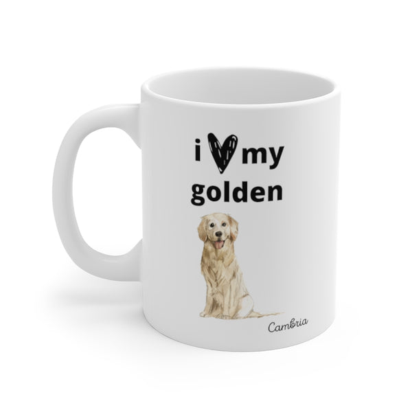 i love my golden Mug (left side view)