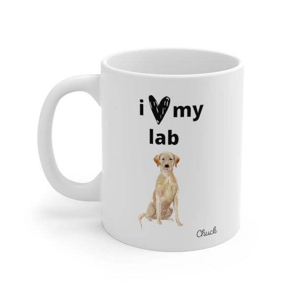 i love my lab Mug — Yellow Lab (left side view)