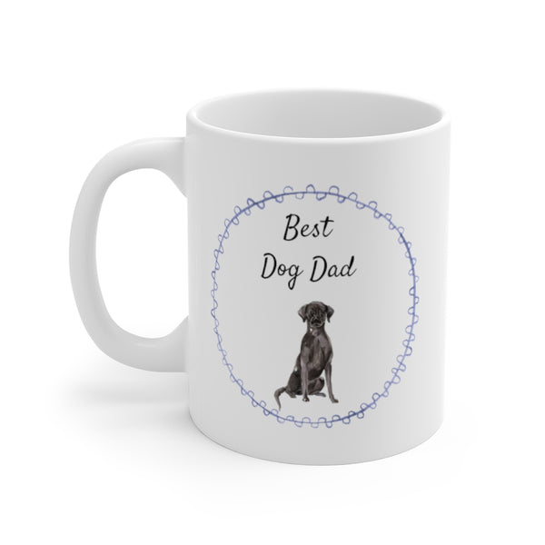 Best Dog Dad Mug — Black Lab (left side View)