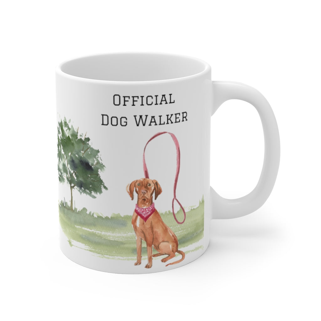 Official Dog Walker Mug — Vizsla (right side view)