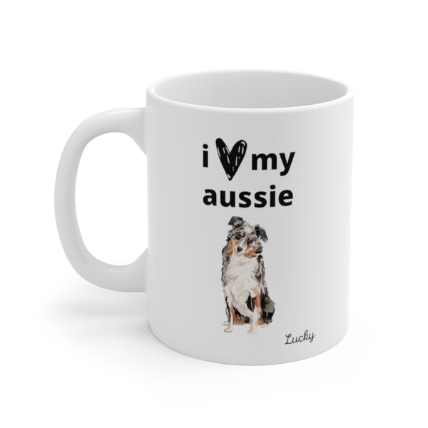 i love my aussie Mug (left side view)
