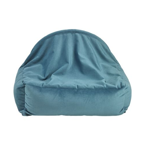 Bowsers Pet Canopy Dog Bed — Breeze Dream Fur + MicroVelvet Teal Back View