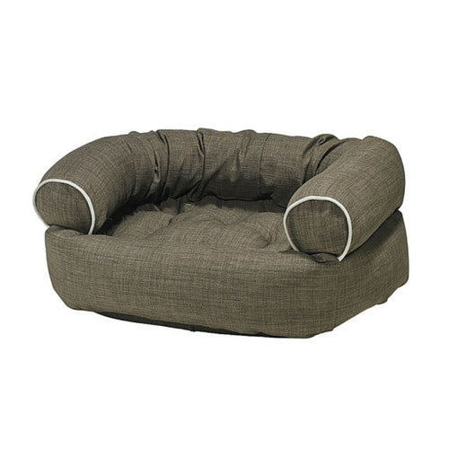 Bowsers MicroLinen Double Donut Bolstered Dog Bed Driftwood