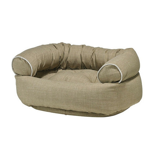 Bowsers MicroLinen Double Donut Bolstered Dog Bed Flax
