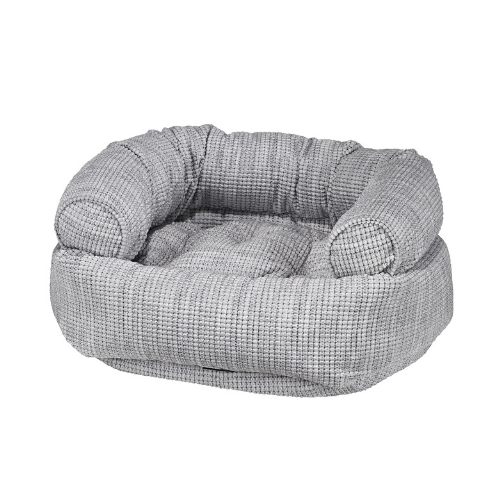 Bowsers Pet Chenille Double Donut Bolstered Nesting Dog Bed — Glacier