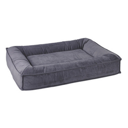 Bowsers Divine Futon Rectangular Bolstered Nesting Dog Bed — Amethyst