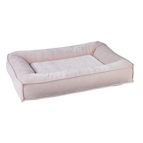 Bowsers Divine Futon Rectangular Bolstered Nesting Dog Bed — Blush