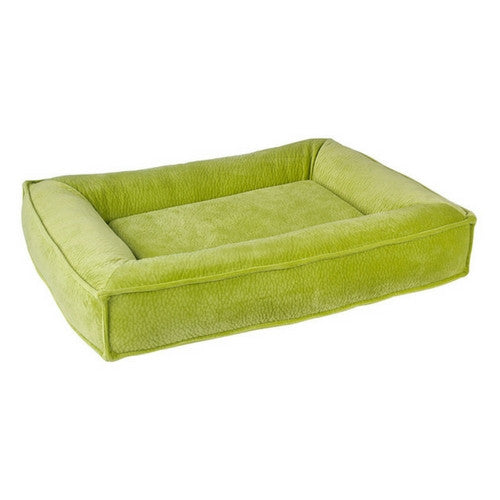 Bowsers Divine Futon Rectangular Bolstered Nesting Dog Bed — Key Lime
