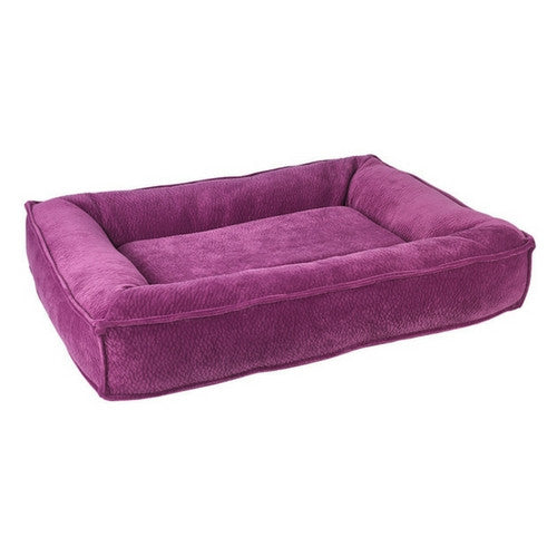 Bowsers Divine Futon Rectangular Bolstered Nesting Dog Bed — Magenta