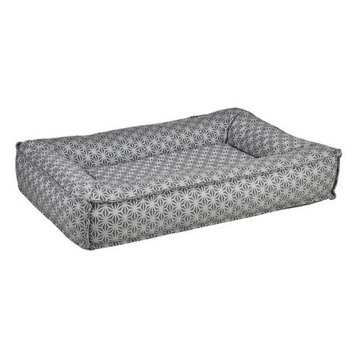 Bowsers Divine Futon Rectangular Bolstered Nest Dog Bed — Mercury