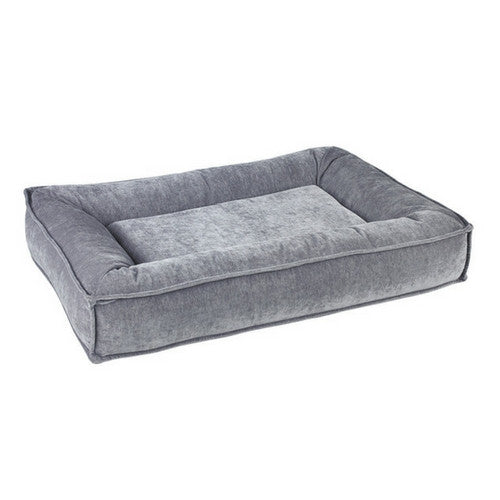 Bowsers Divine Futon Rectangular Bolstered Nesting Dog Bed — Pumice