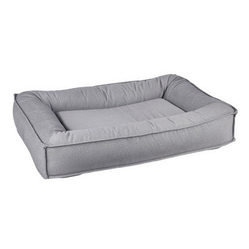 Bowsers Divine Futon Rectangular Bolstered Nesting Dog Bed — Shadow