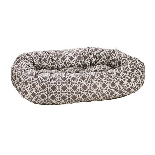 Bowsers Pet MicroVelvet Donut Bolstered Nesting Dog Bed — Athena Grey