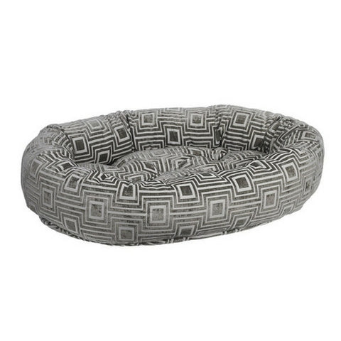 Jacquard Donut Bolstered Dog Bed — Cafe Au Lait