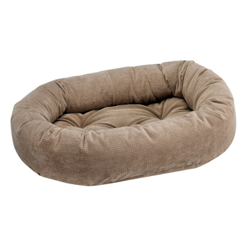 Bowsers Pet MicroVelvet Donut Bolstered Nesting Dog Bed — Cappuccino Treats