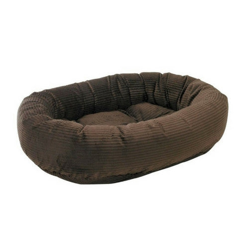 Bowsers Pet Products MicroCord Nesting Donut Bolster Dog Bed — Coffee