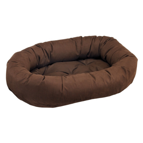 Bowsers Faux Leather Nesting Donut Bolster Dog Bed — Cowboy