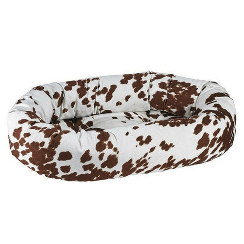 Bowsers Pet MicroVelvet Donut Bolstered Nesting Dog Bed — Durango