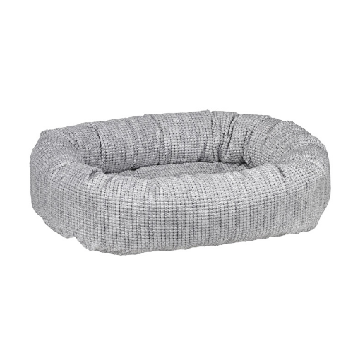 Bowsers Chenille Nesting Donut Bolster Dog Bed — Glacier