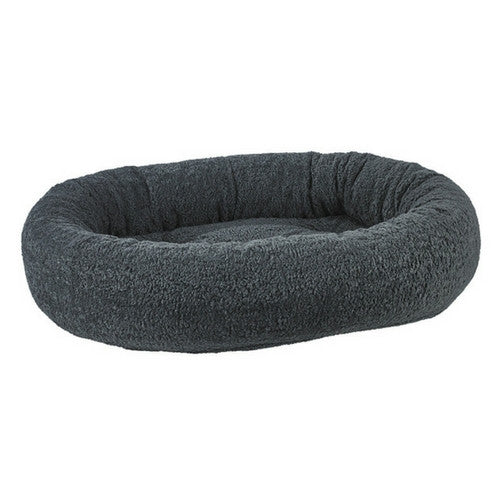 Bowsers Pet Faux Sheepskin Donut Bolstered Nesting Dog Bed — Grey