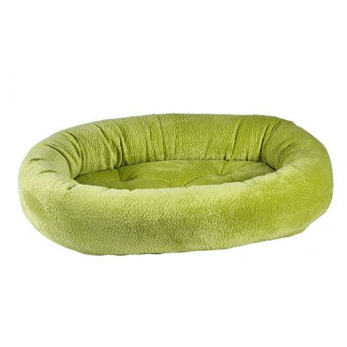 Bowsers Pet MicroVelvet Donut Bolstered Nesting Dog Bed — Key Lime Green