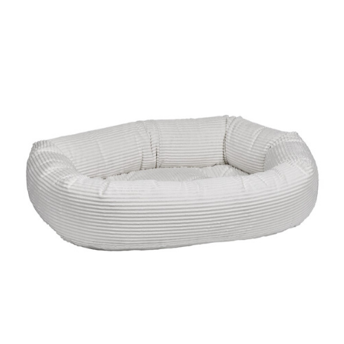 Bowsers MicroCord Nesting Donut Bolster Dog Bed — Marshmallow