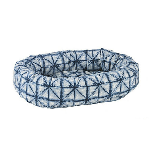 Bowsers Pet MicroVelvet Donut Bolstered Nesting Dog Bed — Shibori