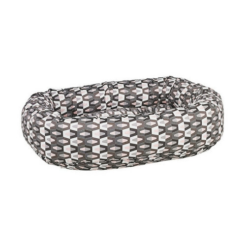 Bowsers Pet Micro Jacquard Donut Bolstered Nesting Dog Bed — Venus