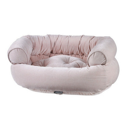 Bowsers MicroVelvet Double Donut Bolstered Nesting Dog Bed — Blush