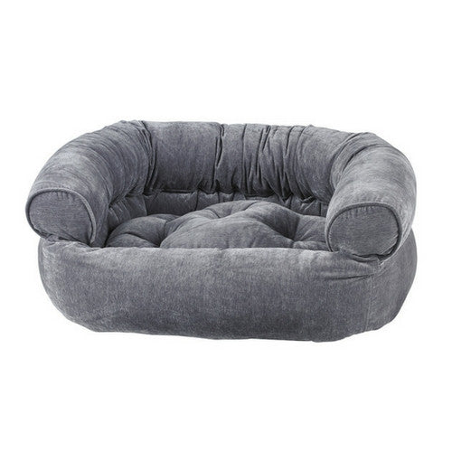 Bowsers MicroVelvet Double Donut Bolstered Nesting Dog Bed — Pumice