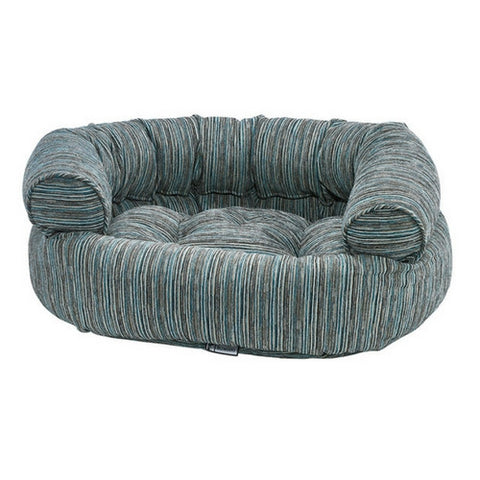 Chenille Double Donut Bolstered Dog Bed — Teaka