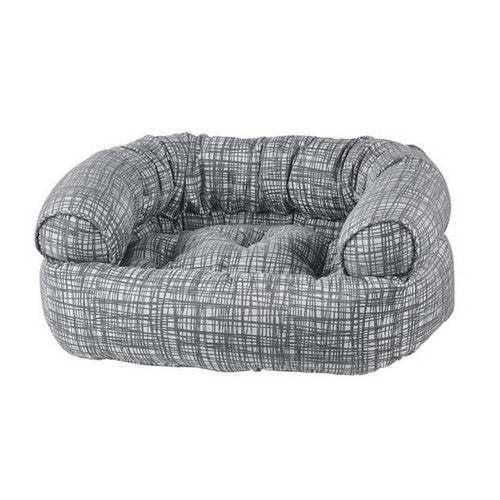 Bowsers MicroJacquard Double Donut Bolstered Nesting Dog Bed — Tribeca