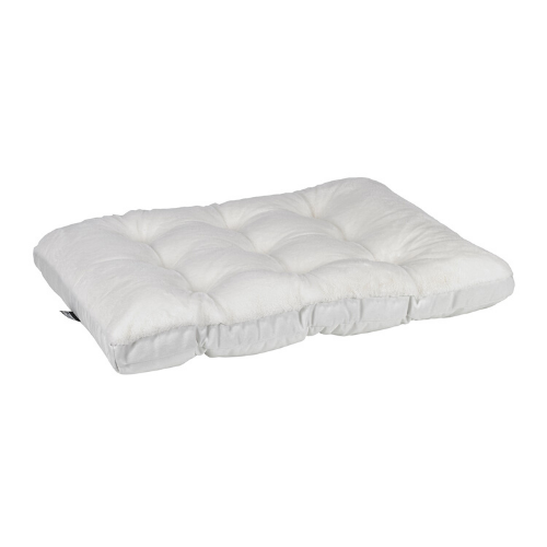 Bowsers Pet Dream Fur Futon Pillow Rectangular Crate Mat Bed — Winter White