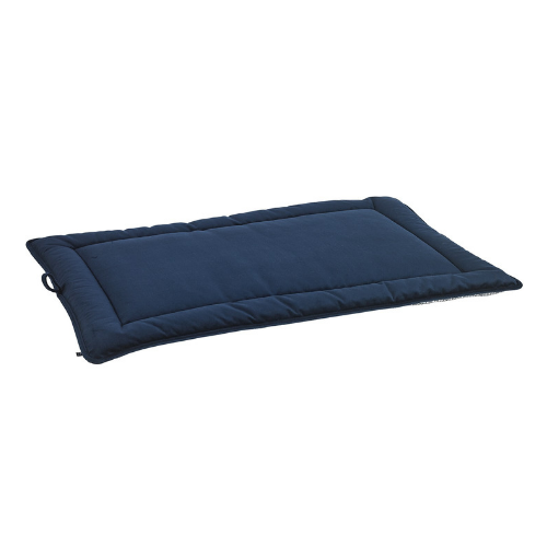 Bowsers Pet Cosmopolitan Mat Travel Dog Bed — Navy MicroVelvet Side