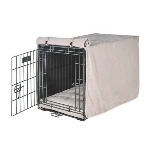 Bowsers Pet MicroVelvet Luxury Dog Crate Cover — Blush Light Pink